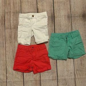 Girls gap shorts lot of 3